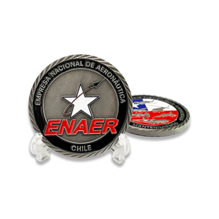 Maker Custom Chile Air force Challenge Coin