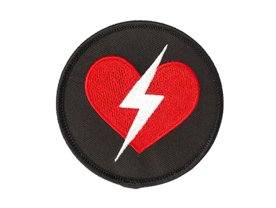 Heart Embroidery Patch