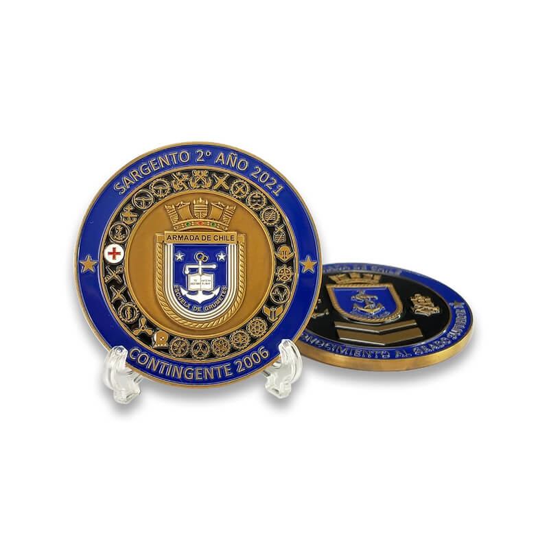 Factory Custom Chile Navy Military Challenge Coin