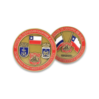 Custom Antique Gold Military Challenge Coins