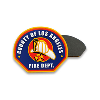 Custom PVC Firedept Patch clothing accessories
